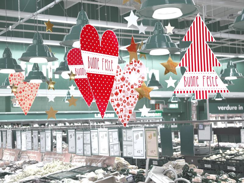 collezione mercatino con filari di stelle