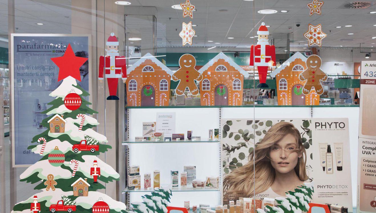 Sagome natalizie in cartone e albero