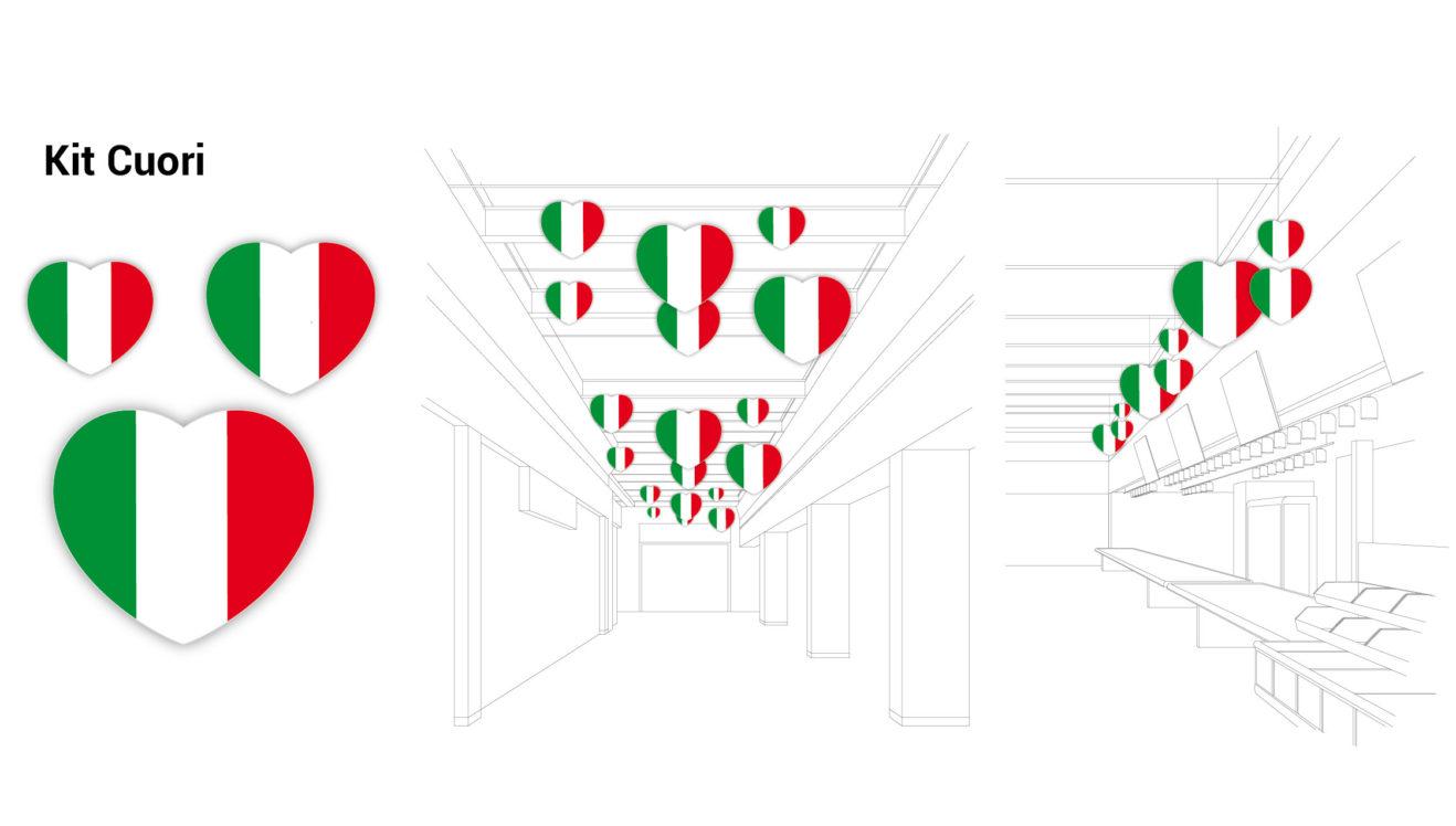 Kit Cuori Italia